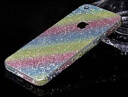 Пленка с блестками для iPhone 5 5S SE