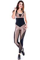 Комбинезон спортивный женский Totalfit F241-C22 черный XS, фото 1