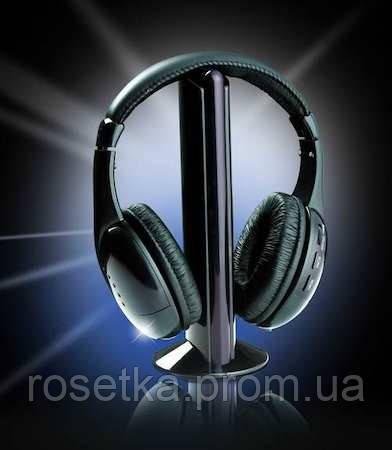 Беспроводные наушники 5 в 1 с FM приемником Wireless Headphone, фото 1