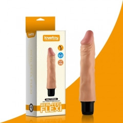 """Реалистичный вибратор - Reel Feel Flexi Vibrator Flesh 9,5"""""""