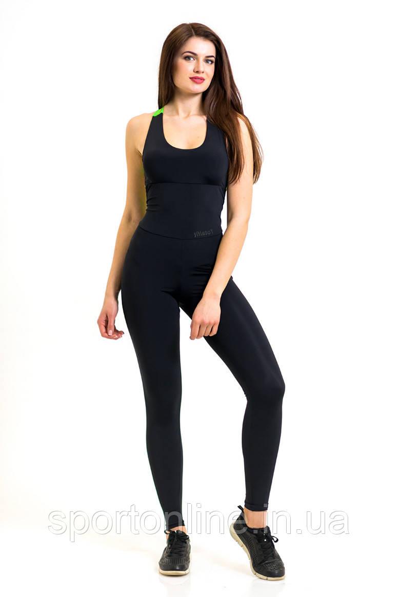 Комбинезон для фитнеса и спорта женский Totalfit F12-C6 черный