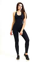 Комбинезон для фитнеса и спорта женский Totalfit F12-C6 черный, фото 1