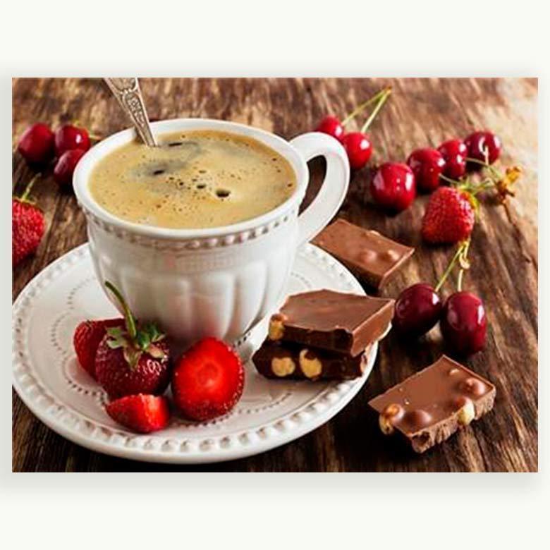 Картина раскраска по номерам на холсте 40*50см Josef Otten PH9466 Чашка кофе