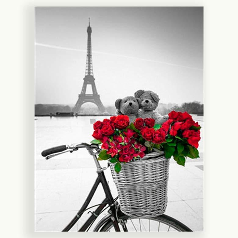 Картина раскраска по номерам на холсте 40*50см Josef Otten Y5460_B Корзина с цветами