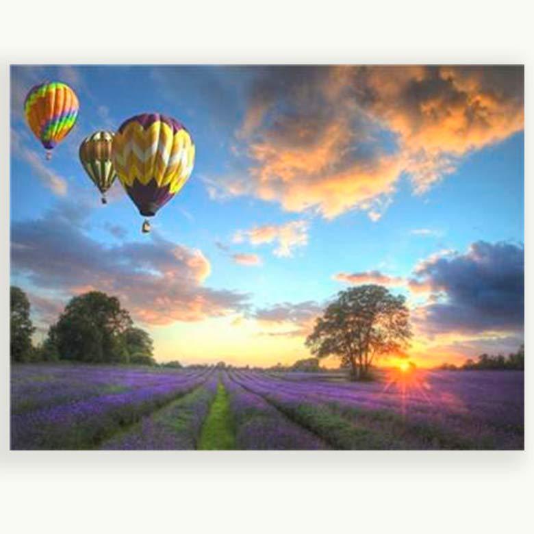 Картина раскраска по номерам на холсте 40*50см Josef Otten E868_B Воздушные шары