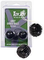 Силиконовые вагинальные Шарики гейши увеличивают оргазм Черные Girly Giggle Love Balls Black ToyJoy