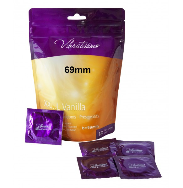 Презервативы - Vibratissimo XX...L Vanilla, 69 мм, 18 шт.