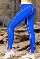 Лосины для спорта Totalfit S11-C11/12 синие с белой полоской, фото 1