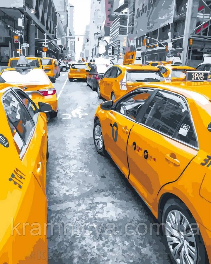 Картина по номерам 40x50 Желтое такси, Rainbow Art (GX25434)