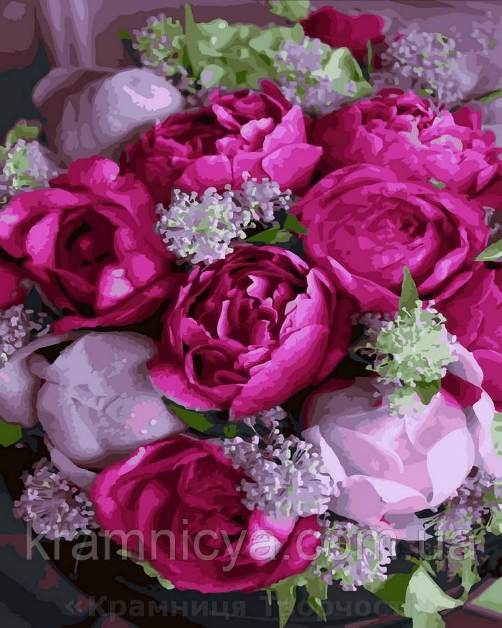 Картина по номерам 40x50 Розовые пионы, Rainbow Art (GX27631)