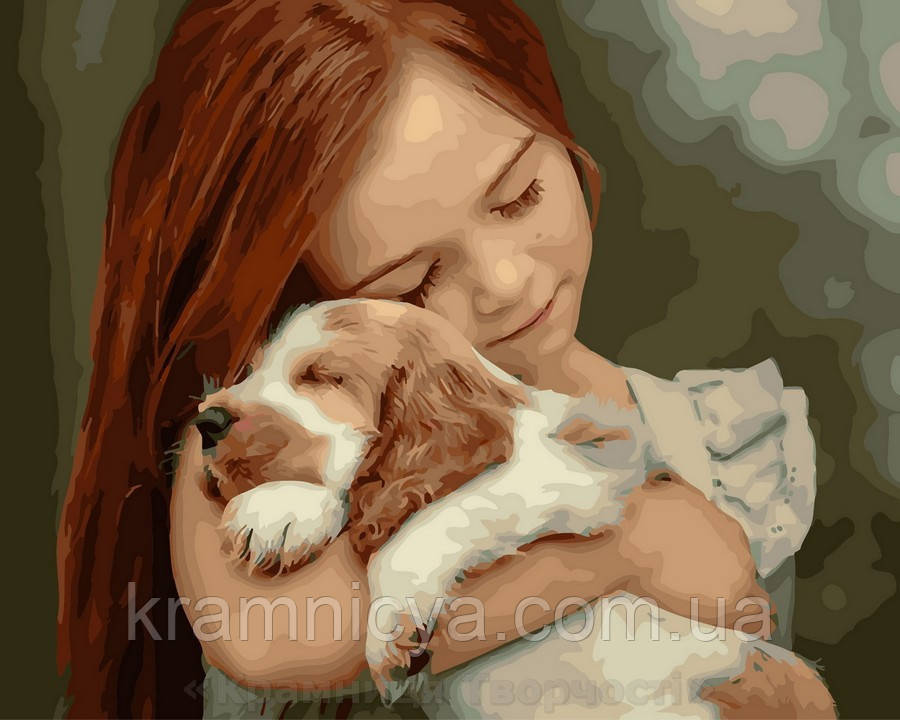 Картина по номерам 40x50 Милый друг, Rainbow Art (GX28133)