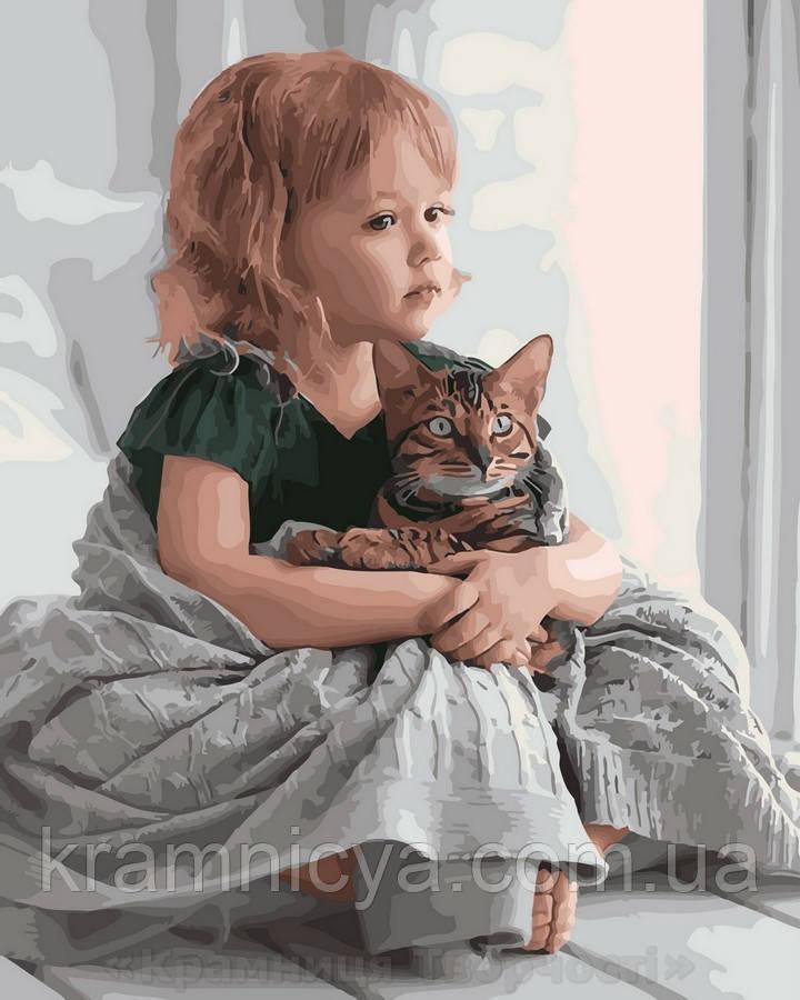 Картина по номерам 40x50 Обнимая кота, Rainbow Art (GX28135)