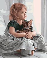 Картина по номерам 40x50 Обнимая кота, Rainbow Art (GX28135), фото 1