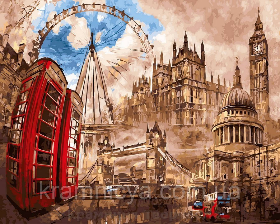 Картина по номерам 40x50 Лондонский круговорот, Rainbow Art (GX29946)