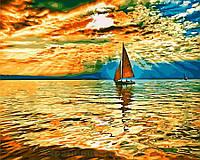 Картина по номерам 40x50 Парусник на рассвете, Rainbow Art (GX30290), фото 1