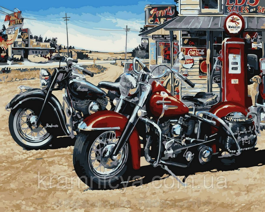 Картина по номерам 40x50 В пригородном кафе, Rainbow Art (GX32447)