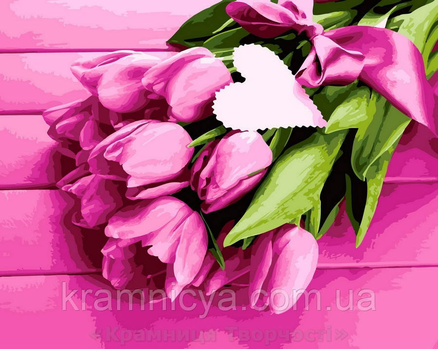 Картина по номерам 40x50 Нежность тюльпанов, Rainbow Art (GX32480)