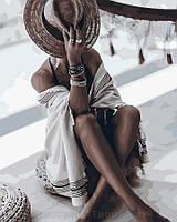 Картина по номерам 40x50 Назнакомка в шляпе, Rainbow Art (GX32484), фото 1