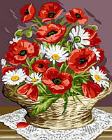 Картина по номерам 40x50 Корзина маков и ромашек, Rainbow Art (GX32510), фото 1