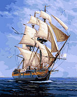 Картина по номерам 40x50 Белый парусник, Rainbow Art (GX32896), фото 1