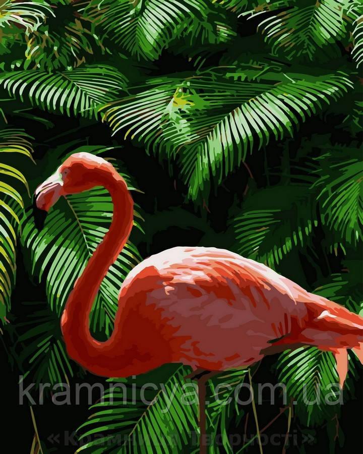 Картина по номерам 40x50 Розовый фламинго, Rainbow Art (GX32902)