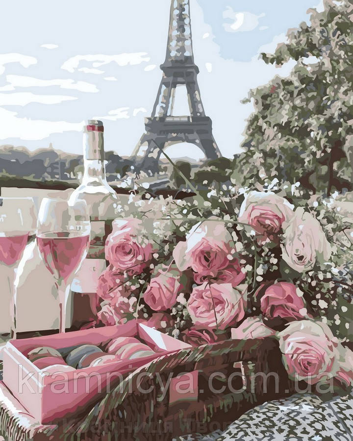 Картина по номерам 40x50 Романтика Парижа, Rainbow Art (GX32923)