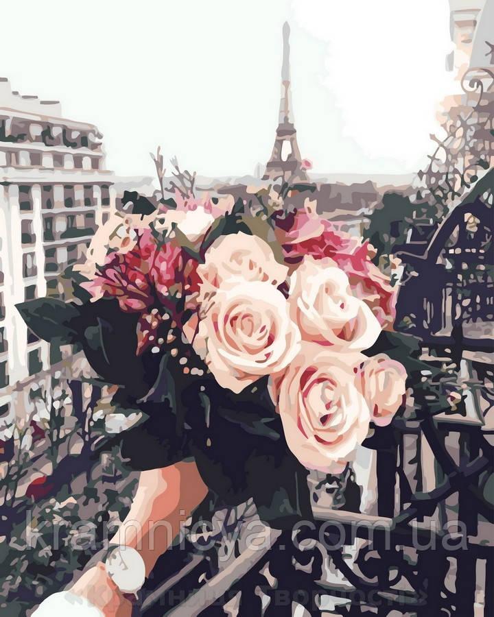 Картина по номерам 40x50 Розы в париже, Rainbow Art (GX32929)
