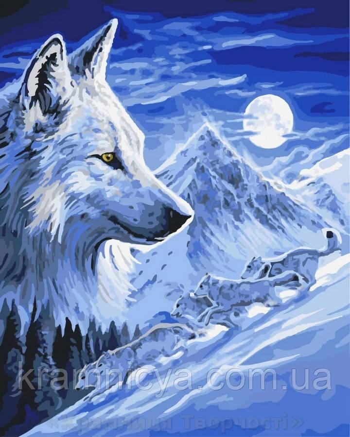Картина по номерам 40x50 Волк под луной, Rainbow Art (GX8532)