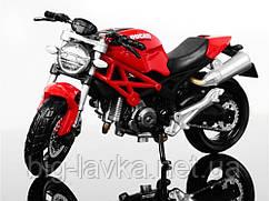Игрушечный мотоцикл 1:18  Красный