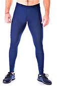 Мужские спортивные лосины тайтсы Totalfit G-2, темно-синие, с сеткой S