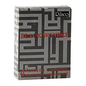 Презервативы - Rilaco Black Wonder, 4 шт.