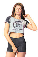 Кроп топ Totalfit B-4 Серый с черным, фото 1