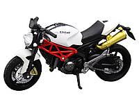 Модель мотоцикла Knight 1:18  Білий