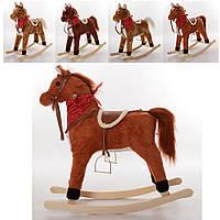 Качалка MP 0086-3  лошадь, 69-71,5-28см, муз,звук(англ),подвиж.рот/хвост, 3цвета, на бат-ке