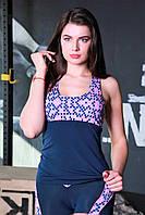 Женская майка для спорта и улицы Totalfit -11 Синий с розовым