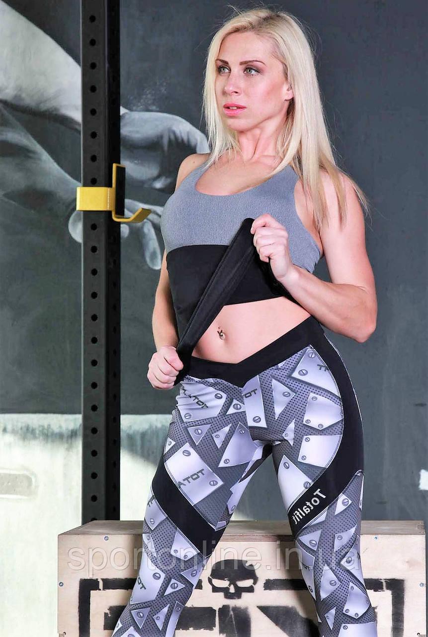 Майка женская спортивная Totalfit -41 Черный с серым