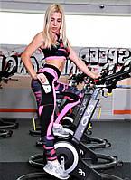 Спортивные леггинсы с карманом Totalfit черные с розовым SP32-P22, фото 1