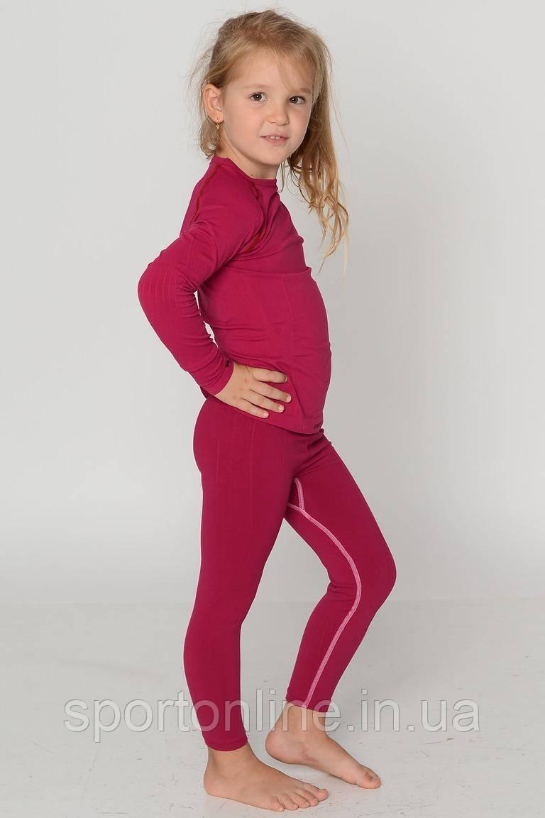 Термобелье детское зональное бесшовное Tervel Comfortline комплект бордовый