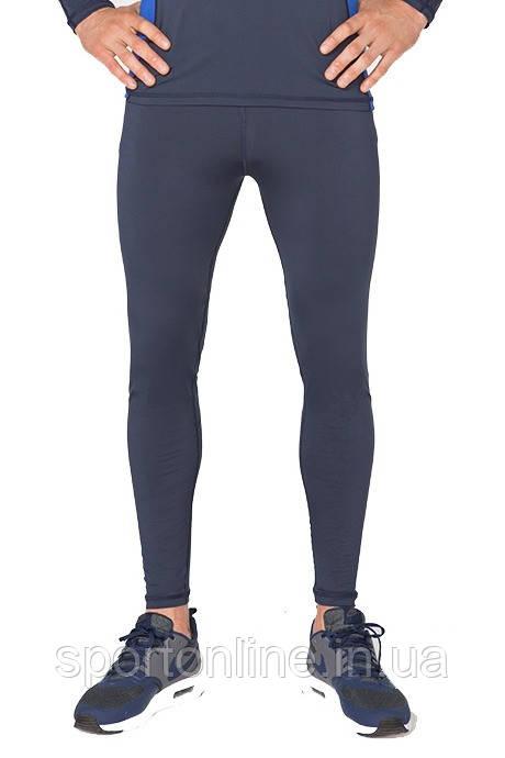 Мужские спортивные лосины тайтсы для бега Rough Radical Nexus темно-синий
