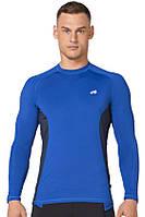 Компрессионная спортивная мужская кофта лонгслив Rough Radical Fury Duo LS синяя с вставками, фото 1
