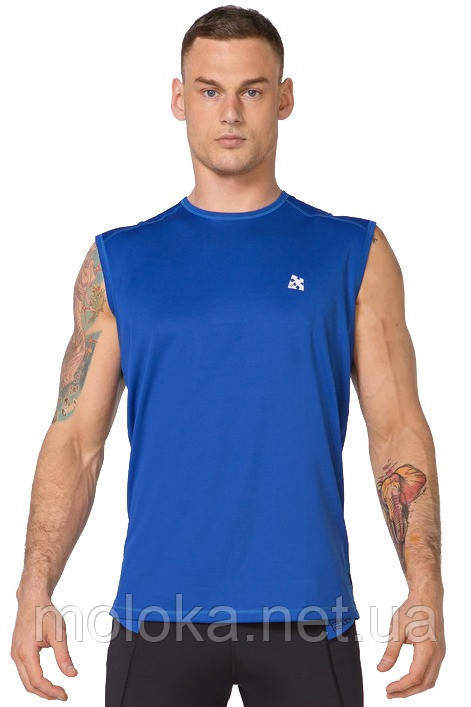 Мужская спортивная футболка без рукавов Rough Radical Tanker синяя