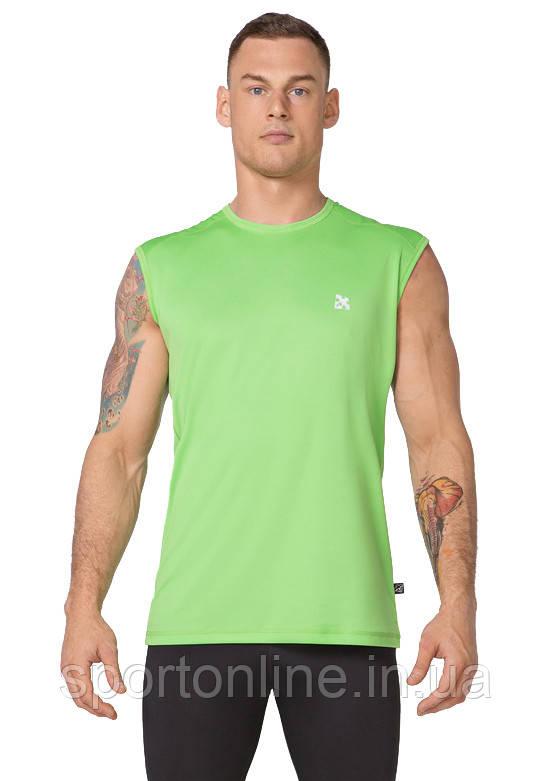 Мужская спортивная футболка без рукавов Rough Radical Tanker салатовая XXL