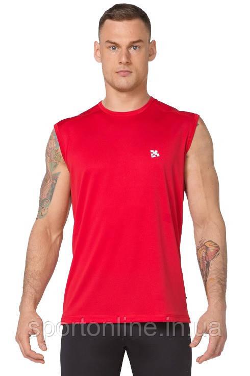 Мужская спортивная футболка без рукавов Rough Radical Tanker красная