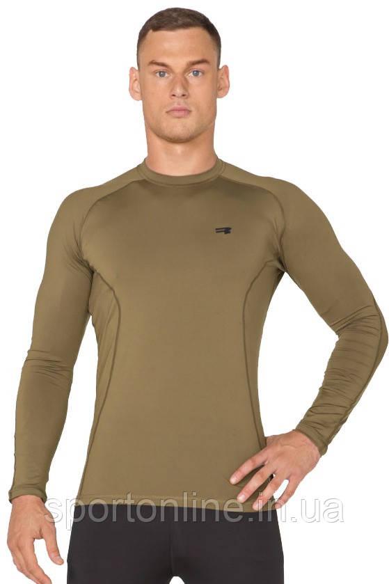 Кофта спортивная мужская лонгслив Rough Radical Army LS оливковая