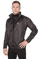 Ветровка-дождевик с капюшоном легкая мужская Rough Radical Flurry черная