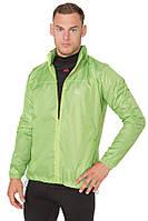 Ветровка-дождевик с капюшоном легкая мужская Rough Radical Flurry зелёная