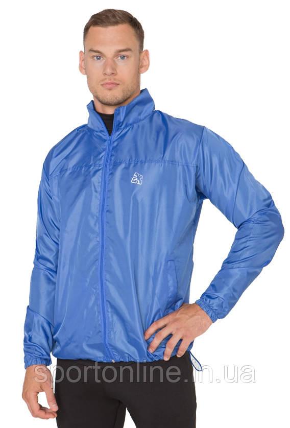 Ветровка с капюшоном легкая мужская Rough Radical Flurry синяя