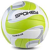 Волейбольный мяч Spokey Cumulus II размер 5 белый с салатовым