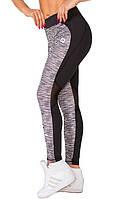 Спортивные женские легинсы Rough Radical Caress черные с серыми вставками, фото 1