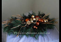 Рождественская композиция для праздничного интерьера